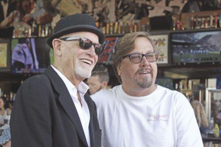 Rock & Brews partners David Furano and Michael Zislis, joined co-founder Gene Simmons to honor Veterans Day in El Segundo Sunday, Nov. 11, 2018.