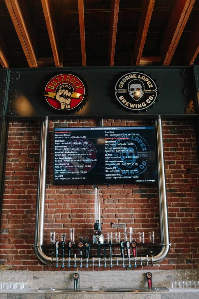 Buzzrock Brewing Co. and George Lopez Brewing Co. at The Brews Hall @ Hermosa Beach