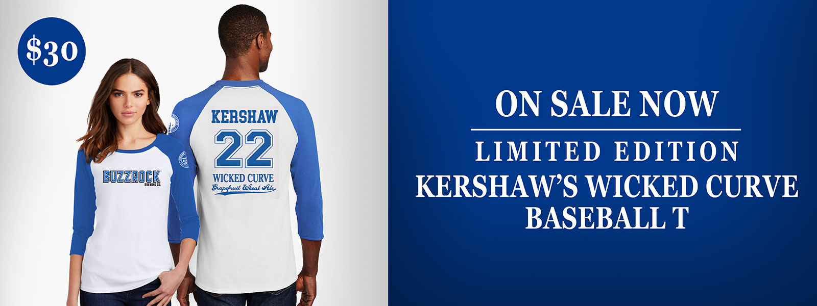 Kershaw's Wicked Curve Limited Edition Baseball T - on sale now!