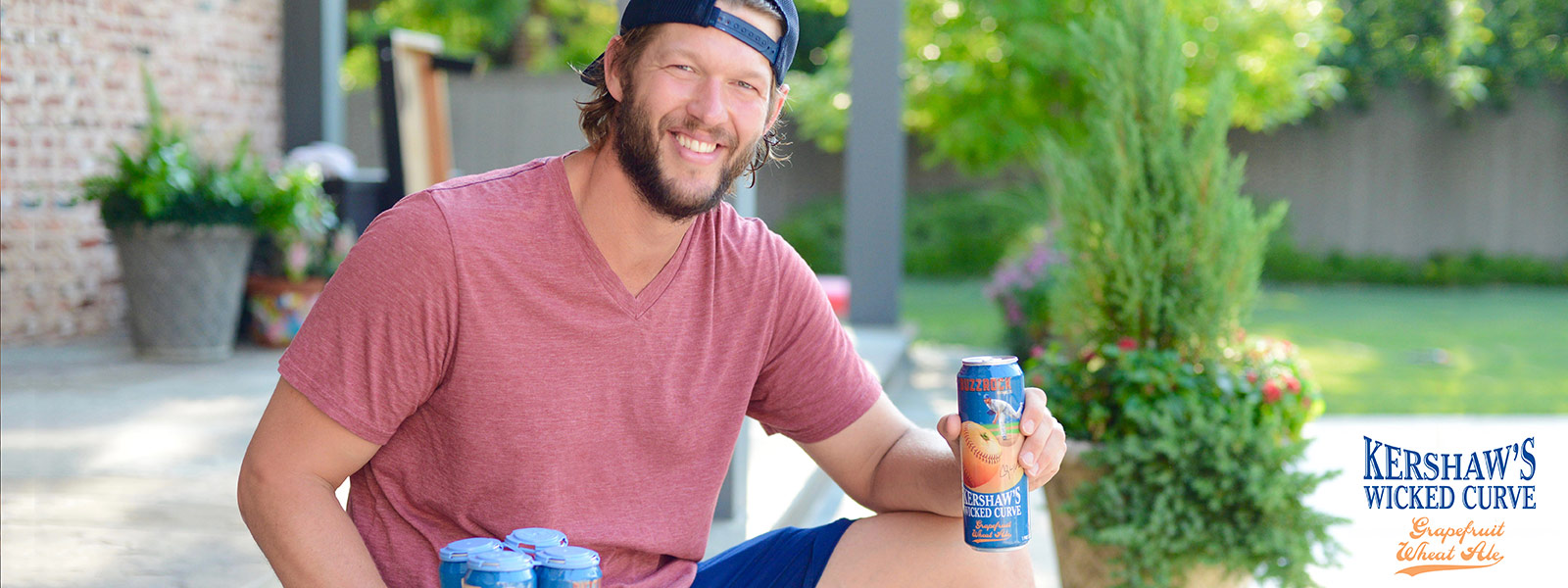 Clayton Kershaw with Kershaw's Wicked Curve Grapefruit Wheat Ale