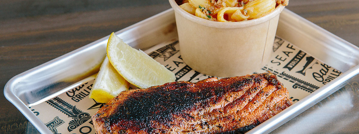 Wood Grilled, Blackened or Battered Fish from Rock'N Fish Grill