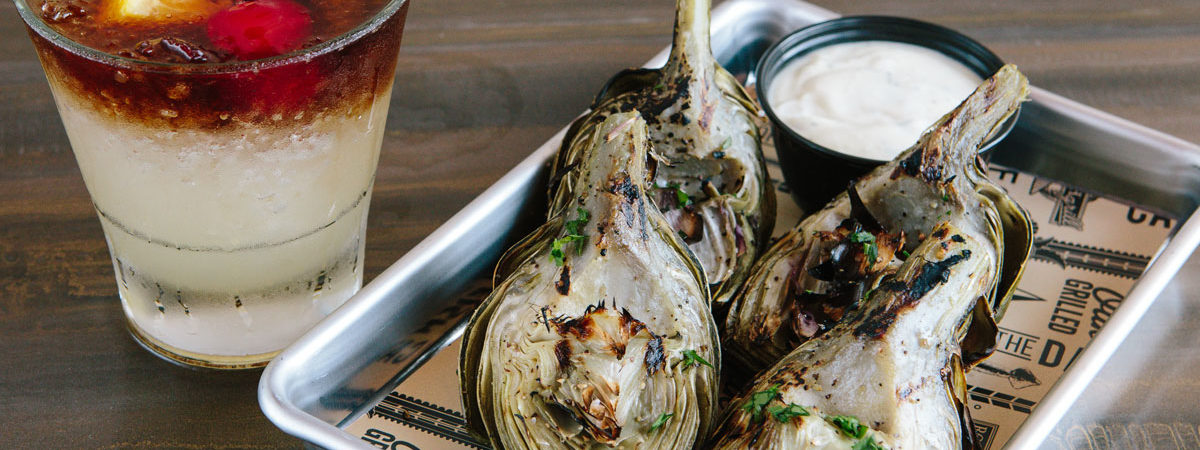 Wood Grilled Artichoke from Rock'N Fish Grill